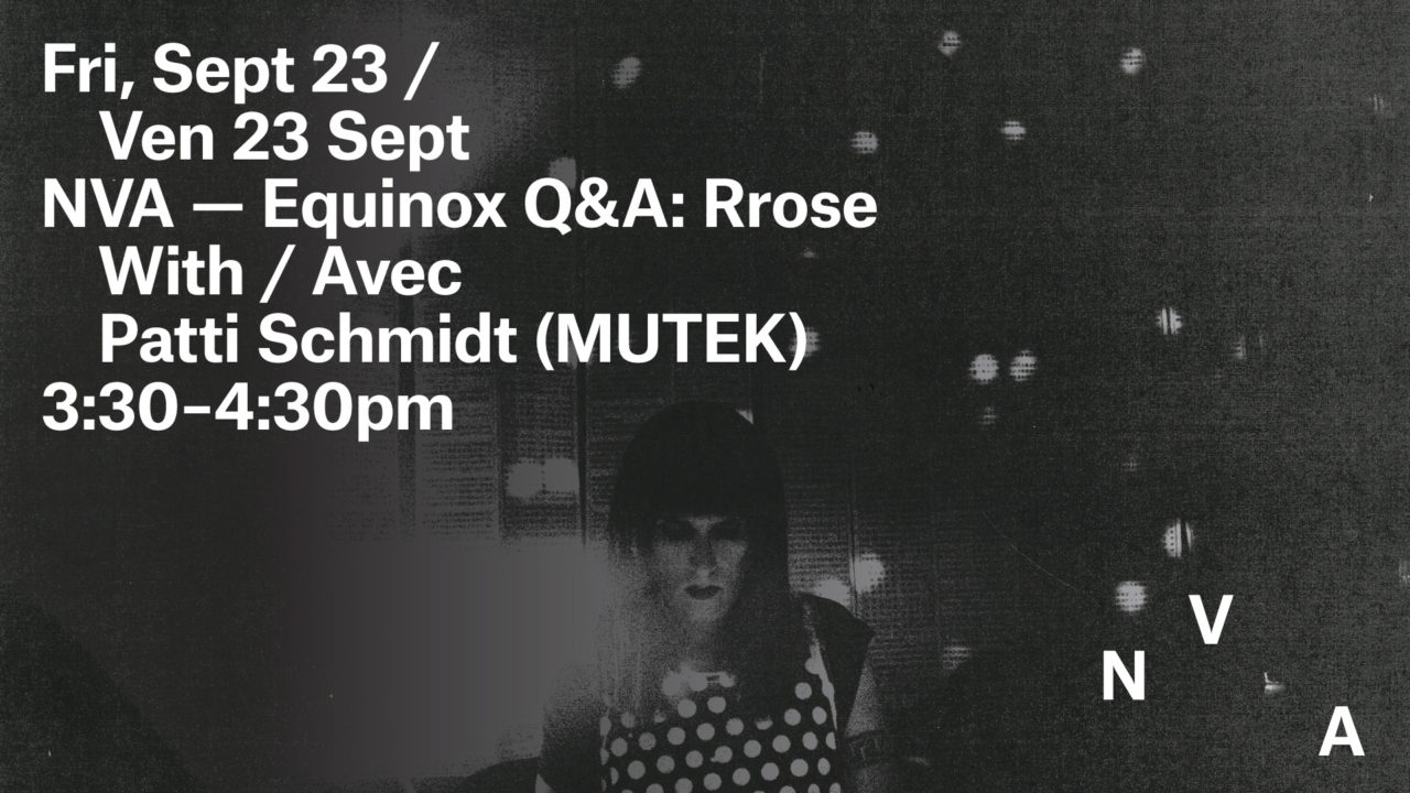 NVA Presents: Rrose Q&A
